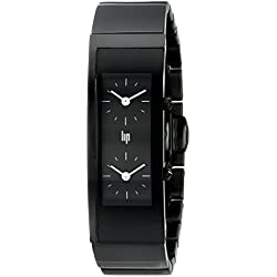 Lip Createur Hicham Lalhou Ladies Watch 1872342 With Black Stainless Steel Strap