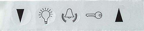Elso Symbolaufkleber Symbole Klingel, Licht Türöffner und Jalousie, 979060 (Symbol Klingel)