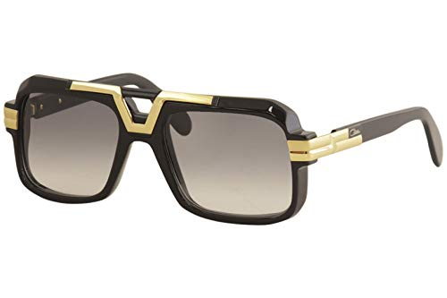 Cazal 664 001SG Sonnenbrille, 56 mm, Schwarz/Grau