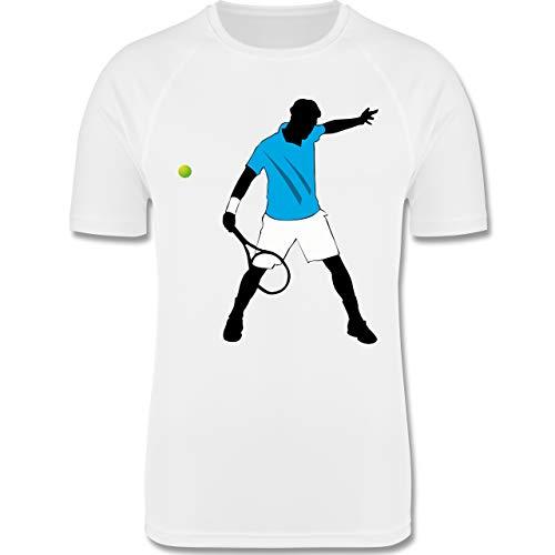 Sport Kind - Tennis Spieler Squash - 140 (9-11 Jahre) - Weiß - F350K - atmungsaktives Laufshirt/Funktionsshirt für Mädchen und Jungen