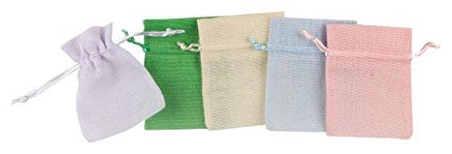 Mopec A370.23 - Bolsa de algodón pequeña de color marfil, pack de 24 unidades