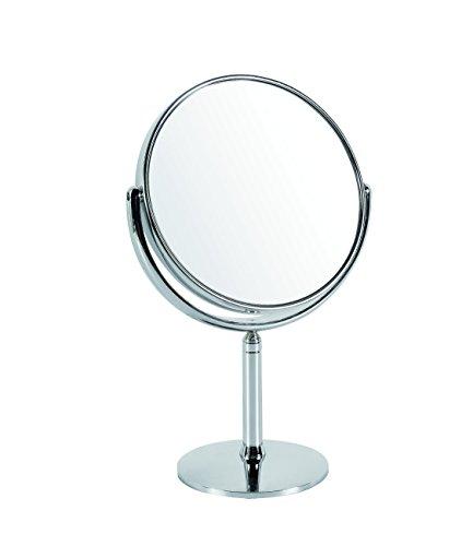 Gerson Miroir Télescopique sur Pied Grossissant x 10 Chromé Diamètre 18 cm Haut 30,5-39 cm
