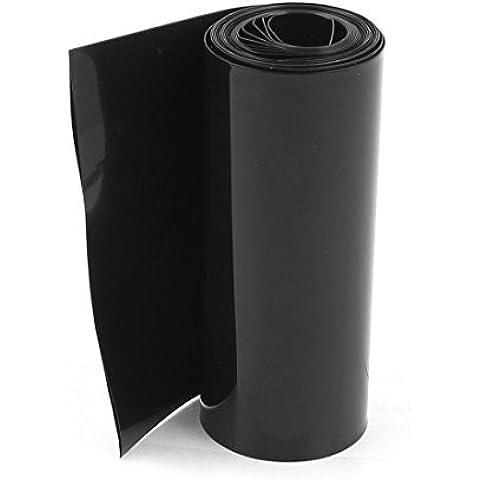85mm/55mm PVC Encogimiento Calor Tubo Envoltura Negro 2m 6,5ft 18650 Batería Paquete