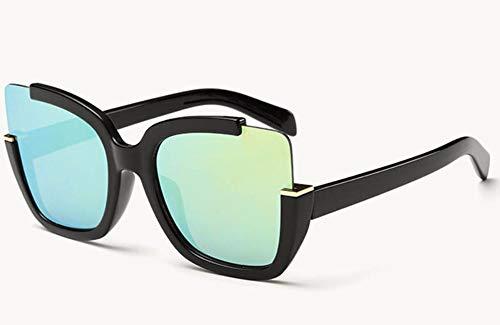 WSKPE Sonnenbrille Sonnenbrille Frauen Brillen Zubehör Form Halber Frame Fahren Gläser Uv 400 Schwarzen Rahmen Grüne Linse