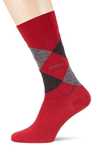 BOSS Herren Socken John RS Argyle WO, Rot (Medium Red 610), 43/46