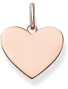 Thomas Sabo Damen-Anhänger Love Bridge Herz 925 Sterling Silber 750 roségold vergoldet 1.5 cm LBPE0002-415-12