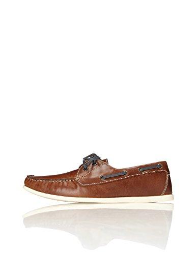 FIND Men's Archie Boat Shoes Brown (Tan) 7 UK (41 EU)