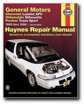 Haynes: GM Chevrolet Lumina APV, Oldsmobile Silhouette and Pontiac Transport, 1990-1994: 1990-1995 (Haynes Repair Manual)