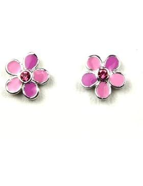 Krsnasworld® Kinder Mädchen Ohrring Ohrstecker Blume mit Crystals from Swarovski®