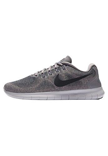 Nike Damen Laufschuh Free Run 2017, Grau (Gunsmoke/Anthracite-007), 39 EU (Nike Free Laufschuh Frauen)