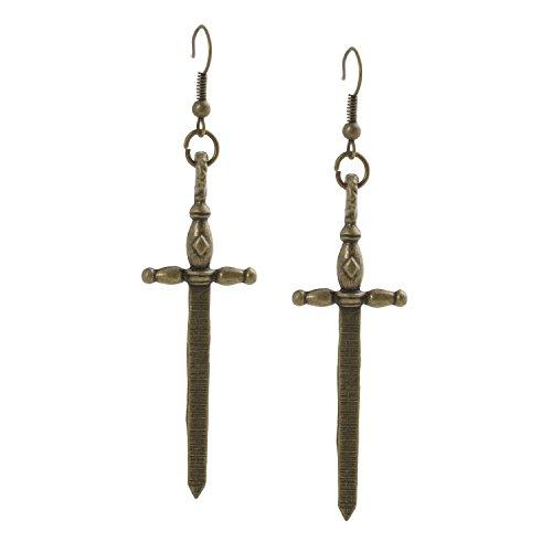 Geralin Gioielli Damen Ohrringe Bronze Schwert Ohrhänger -