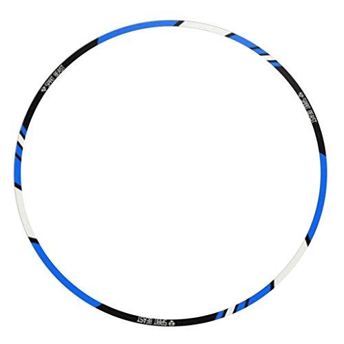 Gazechimp PVC Reflektierende Auto Motorrad Fahrrad Radnabe Reifen Felgen Aufkleber - 18 Zoll Blau