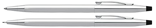 Cross Classic Century Kugelschreiber und Bleistift Set (Strichstäke M und 0,7 mm, nachfüllbar, inkl. Premium Geschenkbox) glanzchrom