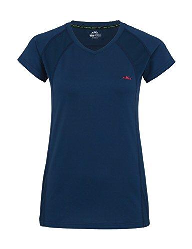 Jeff Green Damen Atmungsaktives Kurzarm Funktions Shirt Ella, Größe - Damen:XXL, Farbe:Deep Navy -