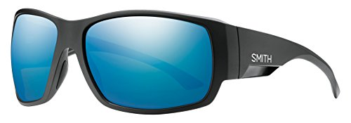 Smith Dockside/N Sonnenbrille Herren, Herren, Dockside/N, Matt Black/Chroma Pop Blue Mirror Polar, 63 mm