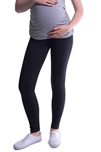 Mija - Oasi - Gute Qualität Umstandsleggings für Schwangere Lange Leggings / Hose 3085 (XXL, Schwarz)