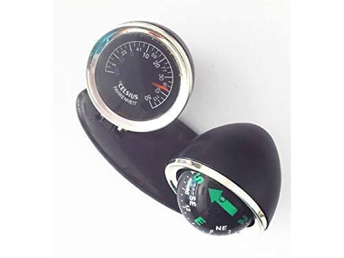 Plsonk Explorer Compass, Multifonction Car Compass Outdoor Explorez des Outils de Navigation avec thermomètre (Noir) Outil de Navigation