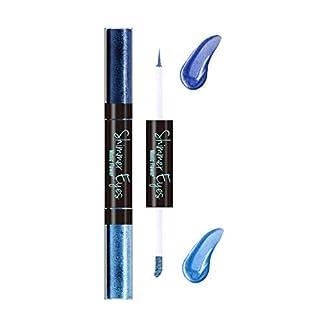 Lápiz delineador de ojos a prueba de agua, 6 colores a prueba de agua, de larga duración, lápiz de delineador de ojos, lápiz, delineador de ojos, herramienta de maquillaje(azul)
