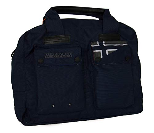 Borsa Palestra Uomo Donna Tracolla Napapijri Marshal Briefcase Blue Marine N8E01