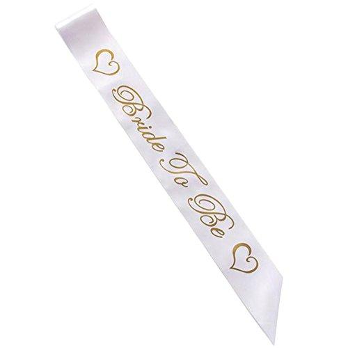 Lumanuby – Schärpe zum Junggesellinnenabschied, klassische Designer-Schärpe, Bride To Be–Team Braut für Junggesellinenabschied, Hochzeit, Kostüm, ()