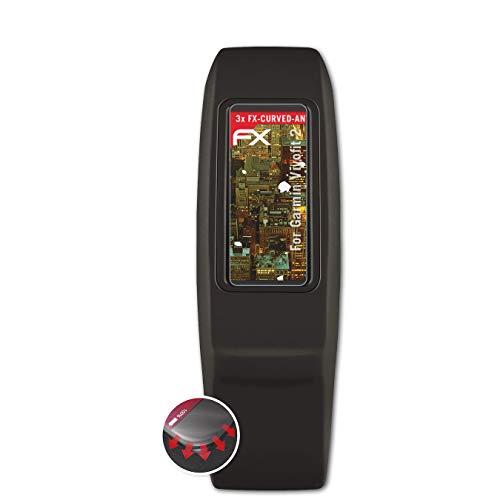 atFoliX Schutzfolie passend für Garmin Vivofit 2 Folie, entspiegelnde & Flexible FX Bildschirmschutzfolie (3X)