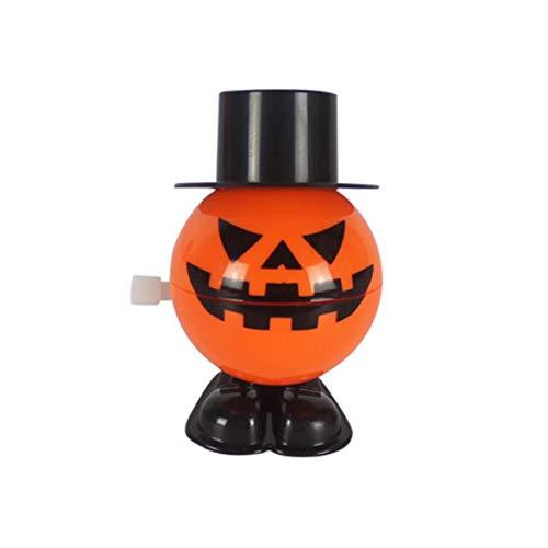 Kongqiabona Halloween Jumping Kürbis mit Kappe Moving Kürbis Party Kinder Gunst Spielzeug Wind-Up Spielzeug Lächeln Gesicht Kürbisse Halloween Gunst