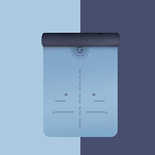 Breitschlupfmatte Fitnessmatte Anfänger Yogamatte 183 * 66 * 0.6Cm Hellblau