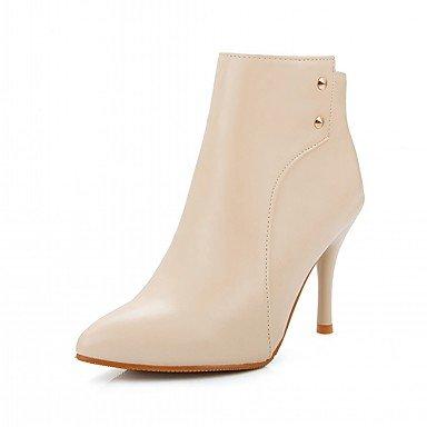 Rtry Femmes Chaussures Pu Similicuir Automne Hiver Confort Nouveauté Mode Bottes Bottes Talon Stiletto Toe Booties / Zipper Cheville Bottes Pour Us6 / Eu36 / Uk4 / Cn36