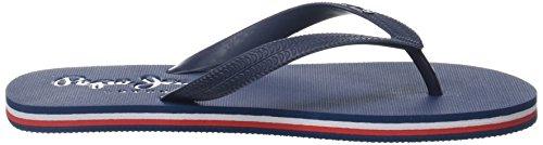 Pepe Jeans London Herren Swimming 2.0 Zehentrenner Blau (Marine)