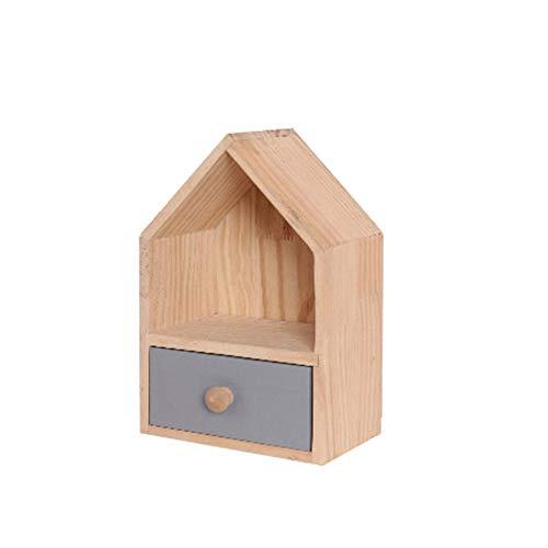Bangxiu Stiftehalter Schreibtischorganizer Holz Desktop Storage Designs Makeup Organizer mit Schubladen Für Büro, Schule und Heimgebrauch (Farbe : Wood, Größe : S)