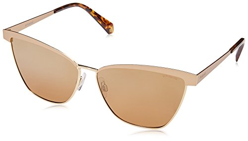 Polaroid Polarized Browline/Clubmaster Women's Sunglasses - (PLD 4054/S AOZ 60QD|60|Brown Color) image