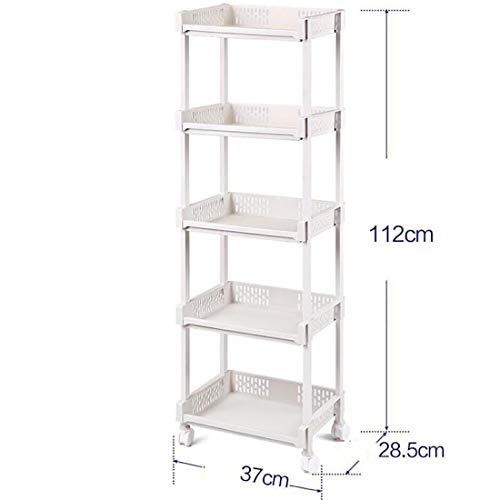 TBANG Küchenregal Balkon Schlafzimmer Lagerung Mehrschichtige Lagerung Kleinigkeiten Regal Metallboden (Design : 5, Size : S) - 5 Schublade Boden Schrank