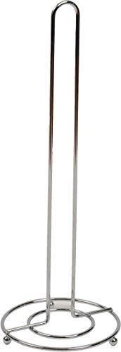 Tendance - Finition Chrome Fil Papier Toilette de réserve, métal, Argent, 30 x 14 x 43 cm