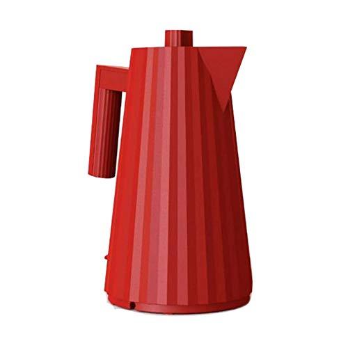 Alessi Plissé MDL06 R Bouilloire électrique en résine thermoplastique, Rouge Prise européenne.