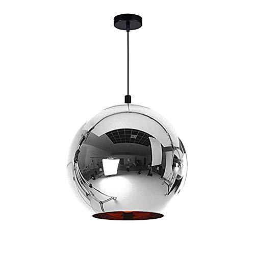 NMDD Moderne vergoldete Pendelleuchte kreative Glas Hängelampe Ball Kronleuchter Leuchten minimalistischen Art-Deco-Deckenbeleuchtung für Kücheninsel Wohnzimmer Esszimmer (Farbe: Silber) -