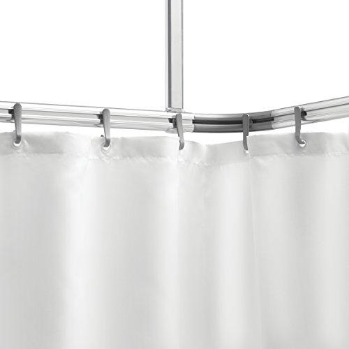 Sealskin 276623005 Komplett-Set Easy-Roll-Duschvorhangstange, Aluminium, chrom matt, 80 x 1,5 x 2,8 cm