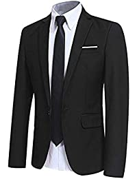 41dff5fac8a4c Chaqueta Casual para Hombre Slim Fit Chaquetas de Traje Formal de Negocios  Un botón de un