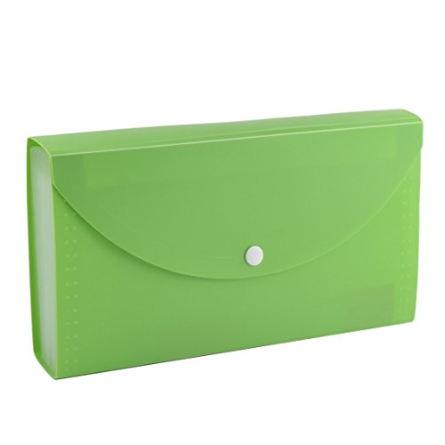 sourcingmapr-pvc-cover-button-closure-expandable-12-pockets-file-holder-green