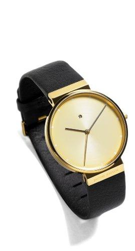 JACOB JENSEN Damen-Armbanduhr Analog Quarz Leder DIMENSION SERIES ITEM  NO.: 845