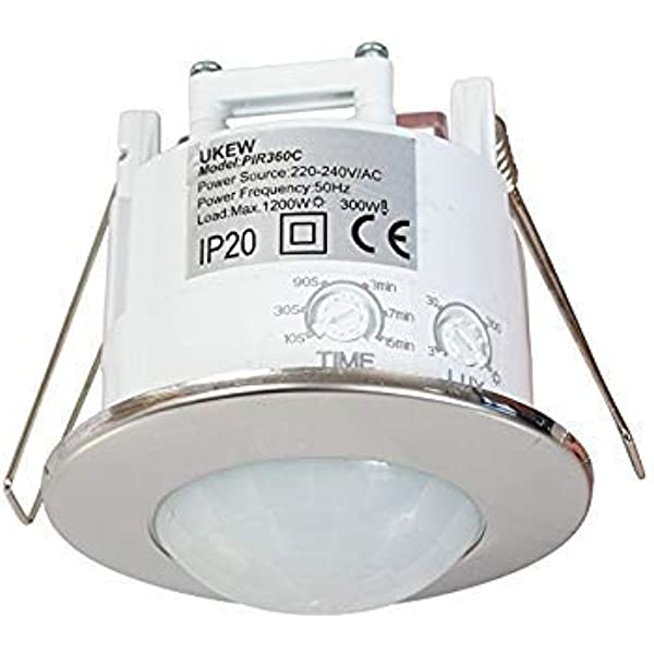 Recessed 360 Degree PIR 1200w Ceiling Occupancy Motion Sensor Detector Light Switch by UKEW