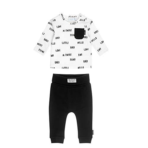 Feetje Baby-Jungen Zweiteiliger Sweat-Anzug Little Baby, schwarz-weiß, 56 - Anzüge Jungen Sweat