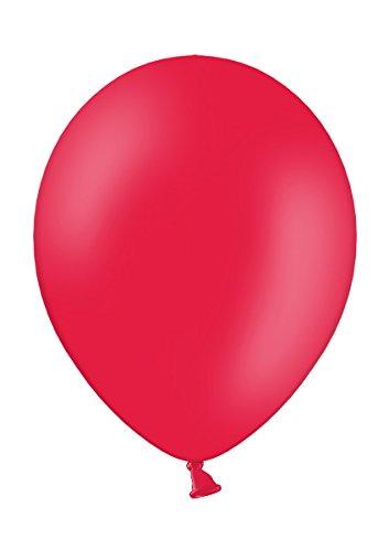 25 Premium Luftballons in Rot - Made in EU - 100% Naturlatex somit 100% giftfrei und 100% biologisch abbaubar - Geburtstag Party Hochzeit Silvester Karneval - für Helium geeignet - twist4®