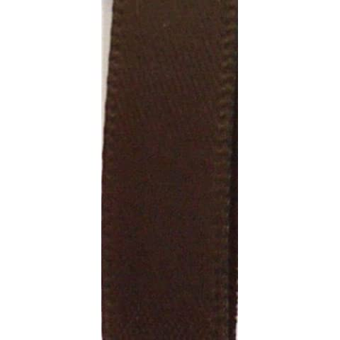 100 yards Spool Polyester Satin 7/8 Ribbon/23mm/Craft/ SR78-17 Chocolate brown US Seller Ship Fast by (Brown Dot Del Nastro Del Grosgrain)