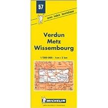 Carte routière : Verdun - Metz - Wissembourg, 57, 1/200000 (Anglais) de Carte Michelin ( 7 mai 1980 )