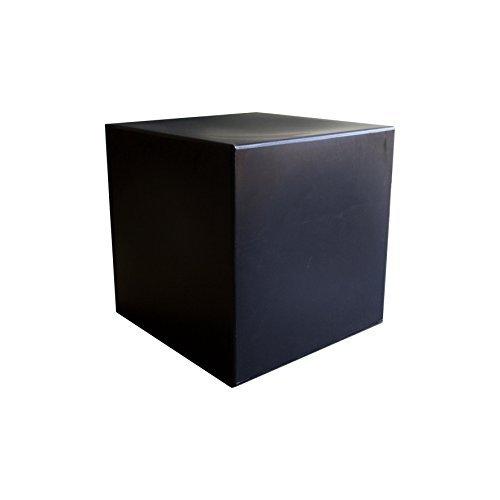 Black plastic base cube Bean Bag Sitting Coffee table Stool Chair by Arken