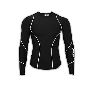 Atak Sports Men's Compression Shirt, Black, Medium