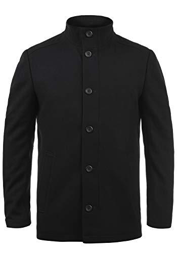 JACK & JONES Premium Jacinto Herren Winter Mantel Wollmantel Lange Winterjacke mit Stehkragen, Größe:XL, Farbe:Black