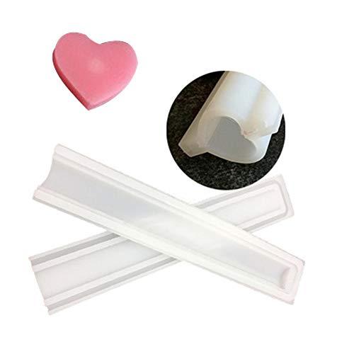 Lembeauty DIY Faite à la Main en Forme de Tube de Savon en Silicone Moule à Cristal Colle Moule à Bougie (Couleur aléatoire)