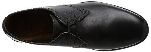 Clarks Hawkley Walk, Derby homme Noir (Black Leather)