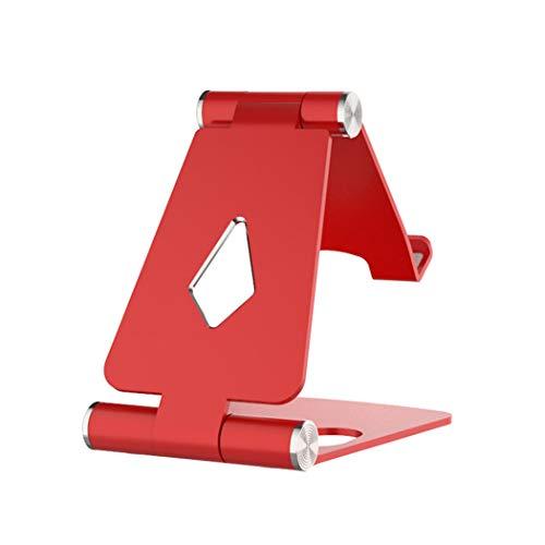 ZYNEN ZYNENDoppelklapphalterung Einstellbare Handyhalterung Multi Funktion Aluminiumlegierung Halterung Metall Desktop Rack Tow Kreative Geschenke,Red (Tow-rack)